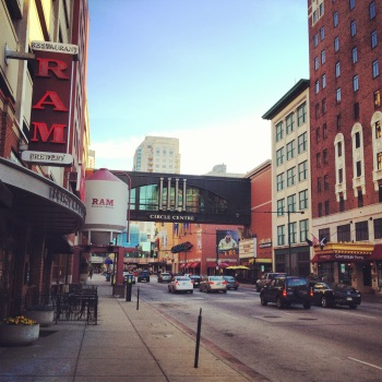 Downtown Indianapolis morning.